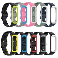 r220 for samsung galaxy fit2 silicone watch strap breathable sweat proof sports watch band with movement frame accessories