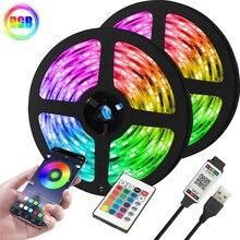 Luz Led De Bande Flexible RGB Strip Lights 2835 USB 5V Smart Bluetooth Control Interior Decoration H