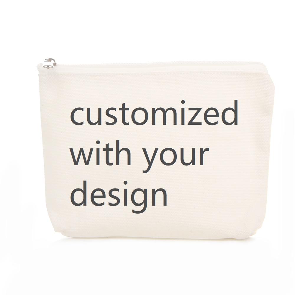 موك 100 قطعة مخصصة 100% حقائب قطنية مستحضرات التجميل السفر حقيبة عادية طباعة شعارك