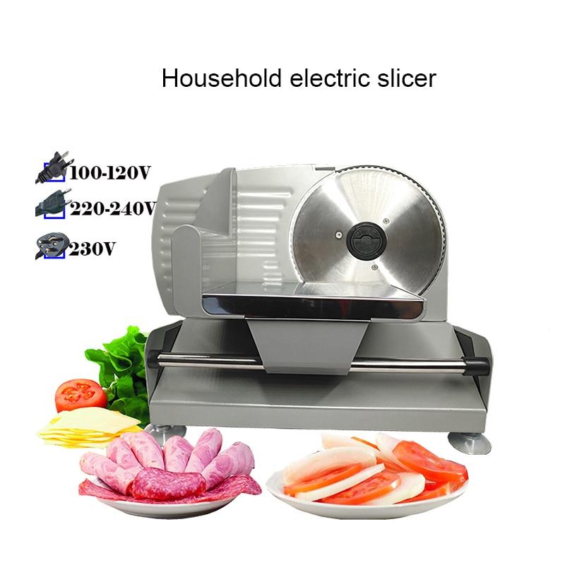 Cortadora de carne eléctrica, rebanadora de carne para el hogar, rebanada de cordero, verduras, pan, olla caliente, máquina de carne de jamón, ESPESOR AJUSTABLE