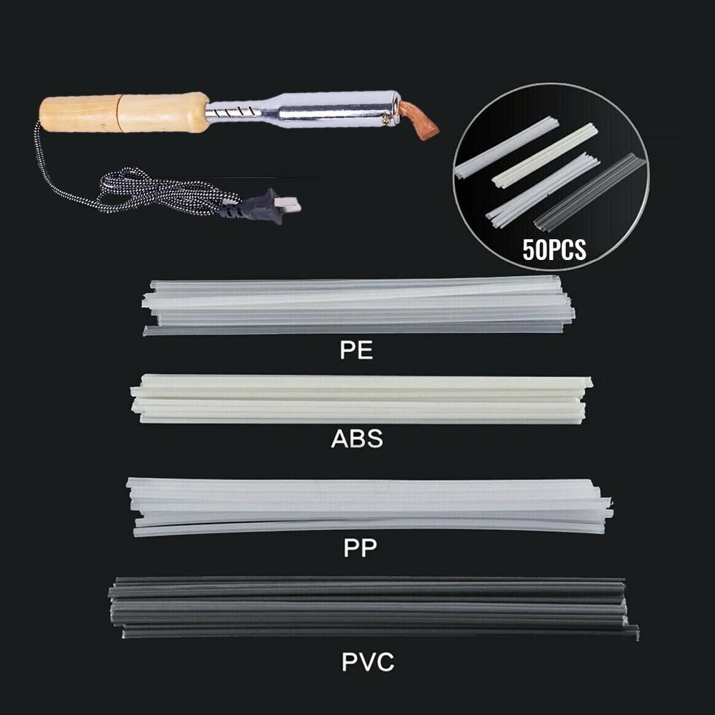 75 Electric Soldering Iron Plastic Welding Kit High Power Chisel Tip Tpo Teo PP Repair Rod Mesh Auto Welder Wood Handle