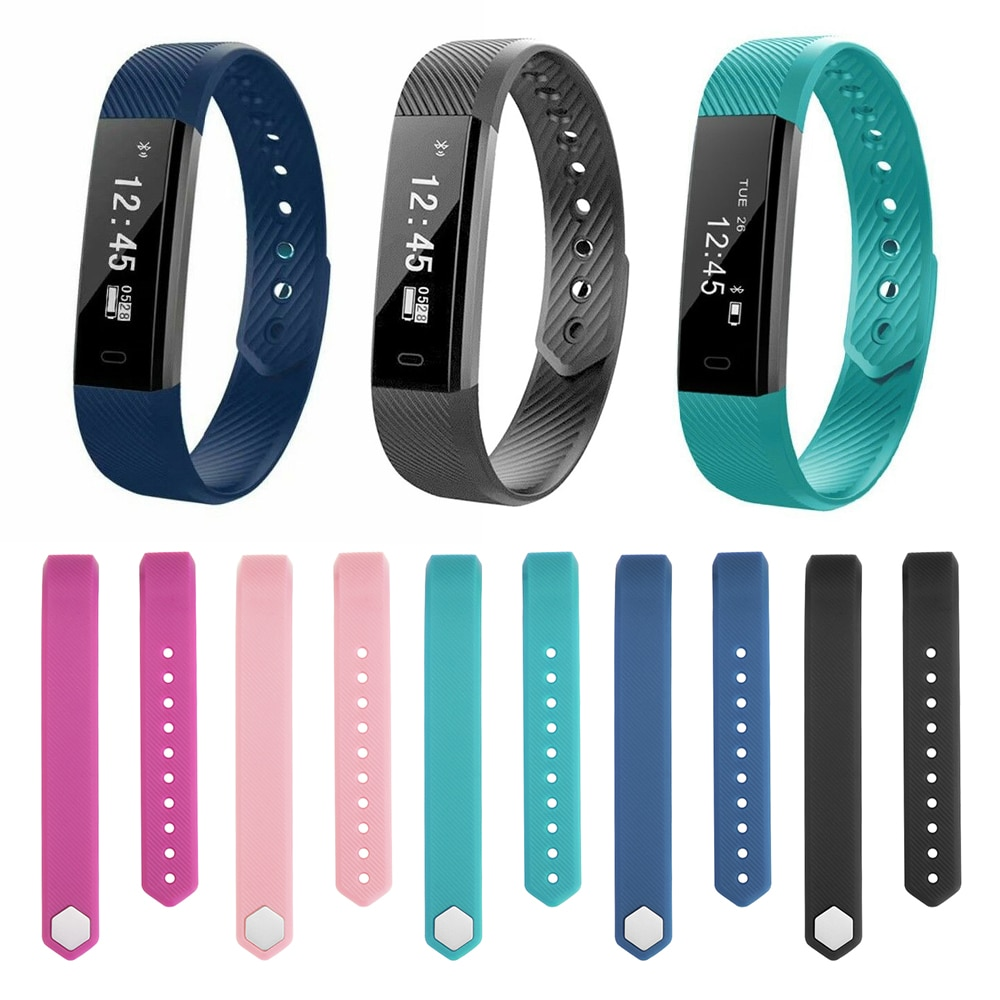 For Veryfit ID115 Adjustable watch Wristband Soft Silicone Replacement Smart Bracelet Wrist Strap Cl