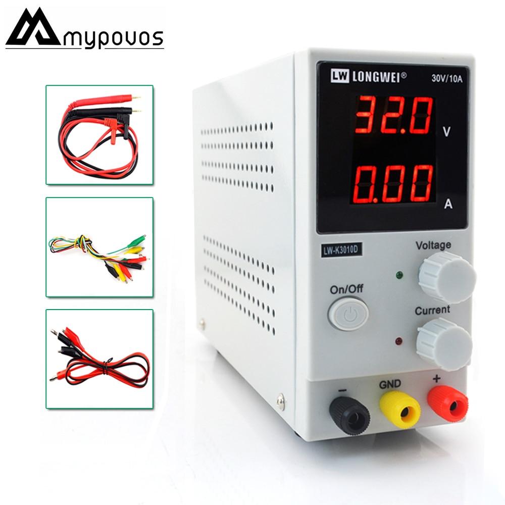 LW-K3010D мини Регулируемый цифровой источник питания постоянного тока 30V10A импульсный источник питания 110В-220В для ремонта телефона ноутбука
