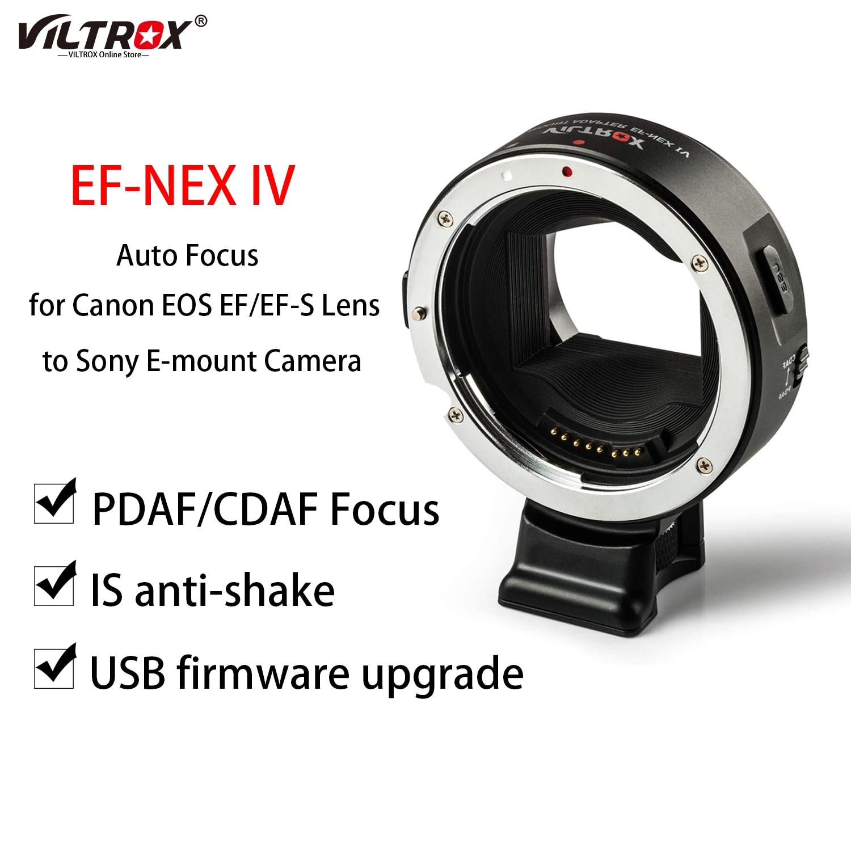 Viltrox EF-NEX IV السيارات التركيز عدسة جبل محول حلقة الإطار الكامل لكانون EOS EF/EF-S عدسة لسوني E-جبل كاميرا A9 AII7 A6500