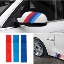 3PCs Kidney Grille Sticker 25x5cm Sport Stripe 3 Colors Red Blue and Deep Blue for BMW M3 M5 M6 E46