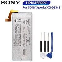 מקורי החלפת Sony סוללה LIP1645ERPC עבור SONY Xperia XZ1 G8342 אמיתי טלפון סוללה 2700mAh