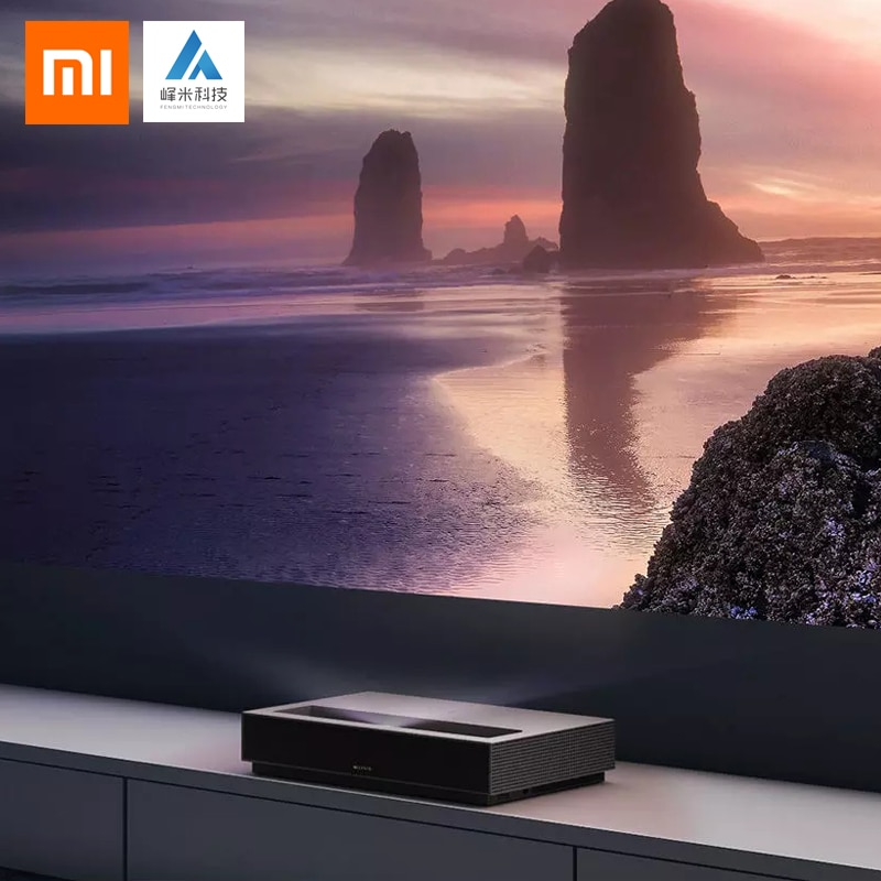 Nuevo Xiaomi Fengmi láser proyector TV 4K cine 150 pulgadas 2,4G/5G Wifi casa teatro TV 2GB 64GB MIUI TV HDR10 Dobby DTS