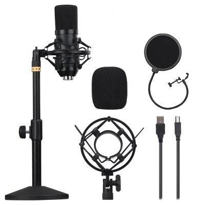 BM700 Usb Microfoon 192Khz/24BIT metalizados Podcast condensador Microfoon Voor Pc Karaoke Youtube estudio Opname Mikrofo