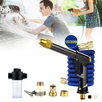 high pressure washer gun 15m30m expandable garden hose rotatable nozzles with 3 connectors for car cleaning garden yard