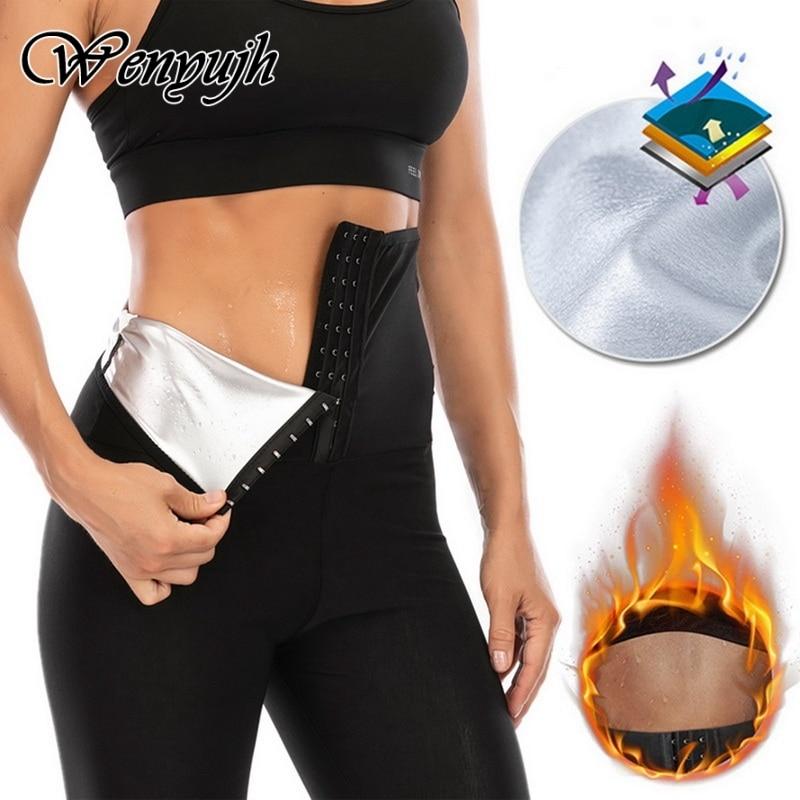 WENYUJH Women Sauna Pants Thermo Sweat Leggings Slimming Body Shaper Tummy Control Fitness Workout Panties Waist Trainer Shorts
