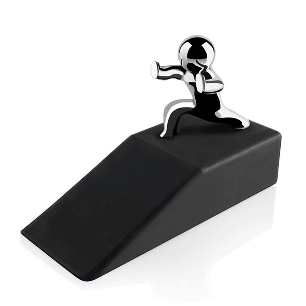 Zinc Alloy Little and Man with Non-slip Rubber Bases Door Stop Safe Anti-collision Door Stopper Rubber Novelty design Decorative