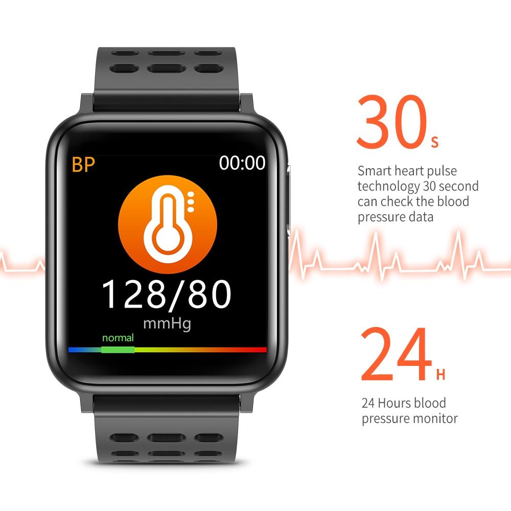 Измерения Смарт-часы для мужчин крови Давление электронные умные часы с экраном сердцебиения, умные часы, женские Водонепроницаемый Ip67 Сма...