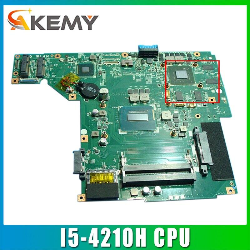 AKEMY ل MSI GE60 GP60 اللوحة المحمول MS-16GH1 VER:1.0 مع SR1Q0 I5-4210H CPU DDR3L N15P-GT-A2 GTX850M 2GB