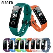 Bracelet de montre en Silicone FIFATA pour Bracelet dhonneur 4 5 bracelets accessoires Bracelet de Sport de remplacement pour Huawei Bracelet dhonneur 5 4 Bracelet