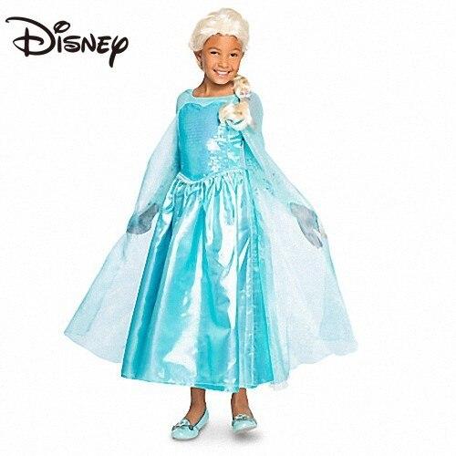 Disney Frozen Princess Elsa Costume Children's Festival Dress Girls' Dress Long Skirt Overknee Skirt women clothes