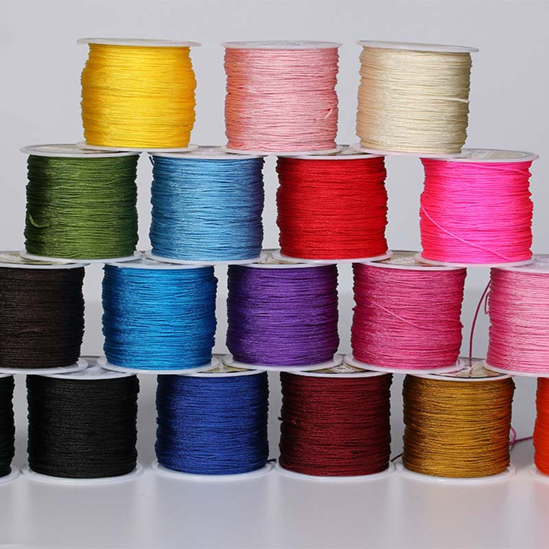 50 Meters 0.8 mm Thread Woven Wire Red Rope Jewelry Line for DIY Necklaces Bracelets Making Jewelry Findings Wholesale