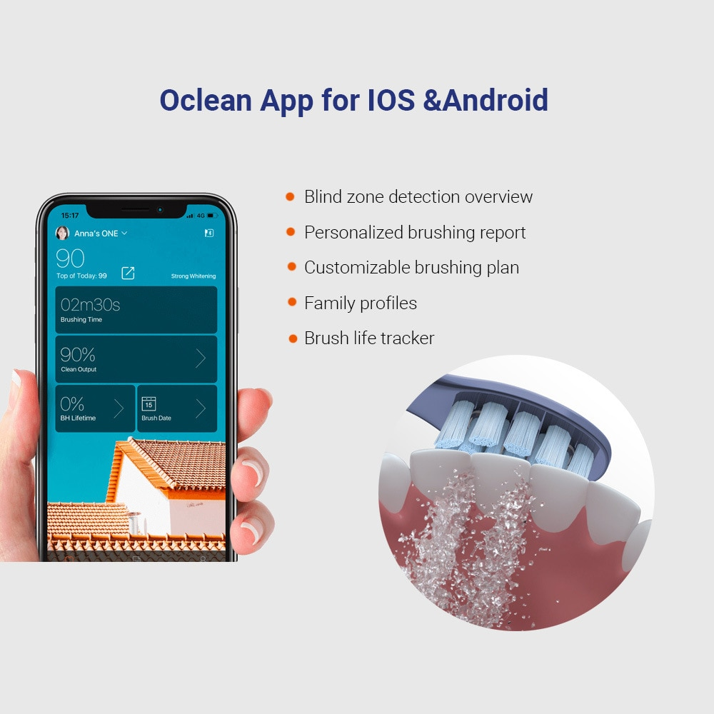 New Oclean X Pro Sonic Electric Toothbrush with Touch Screen IPX7 Waterproof 3 Brushing Modes ToothBrush For Adult Fast Charging enlarge