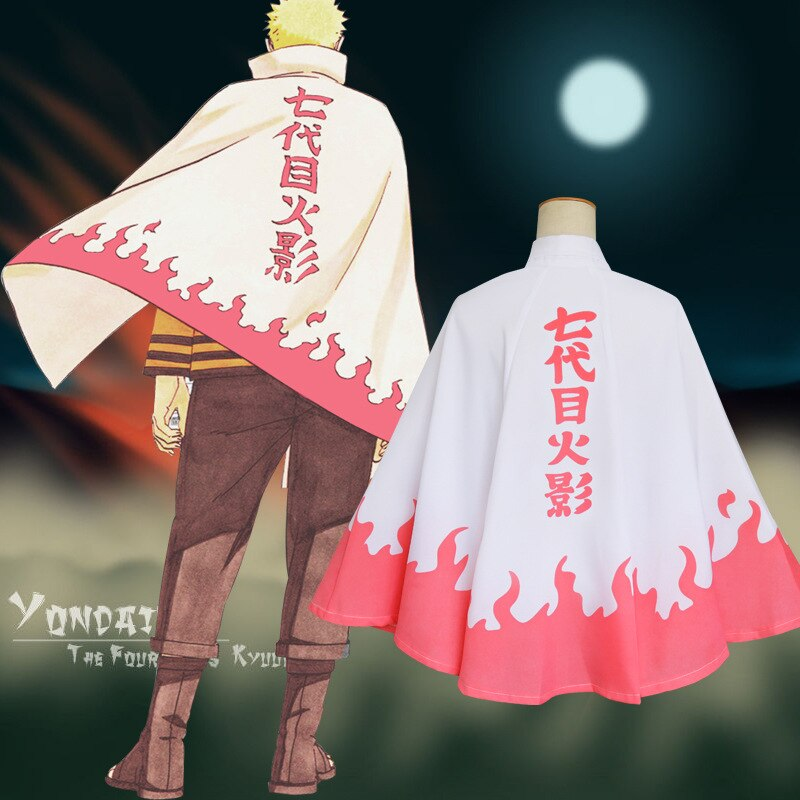 Anime NARUTO Cosplay Uzumaki Naruto costume the seventh Hokage Cape cloak Halloween Boruto costume for Kids Adult carnival