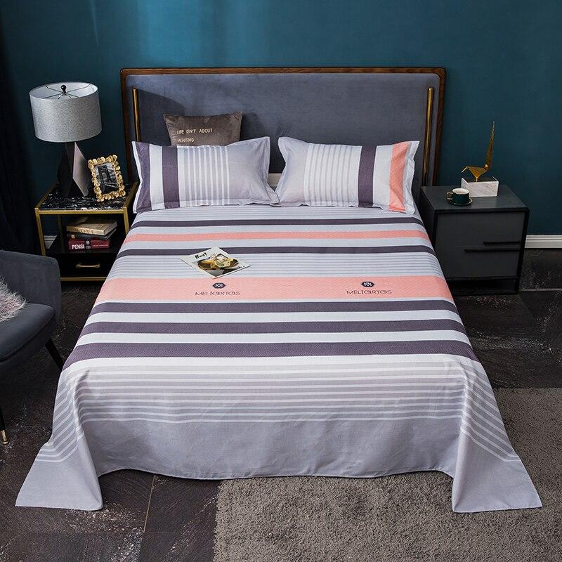 أغطية سرير من البوليستر 100% ملاءات مريحة في الصيف ورقة سرير مفرد