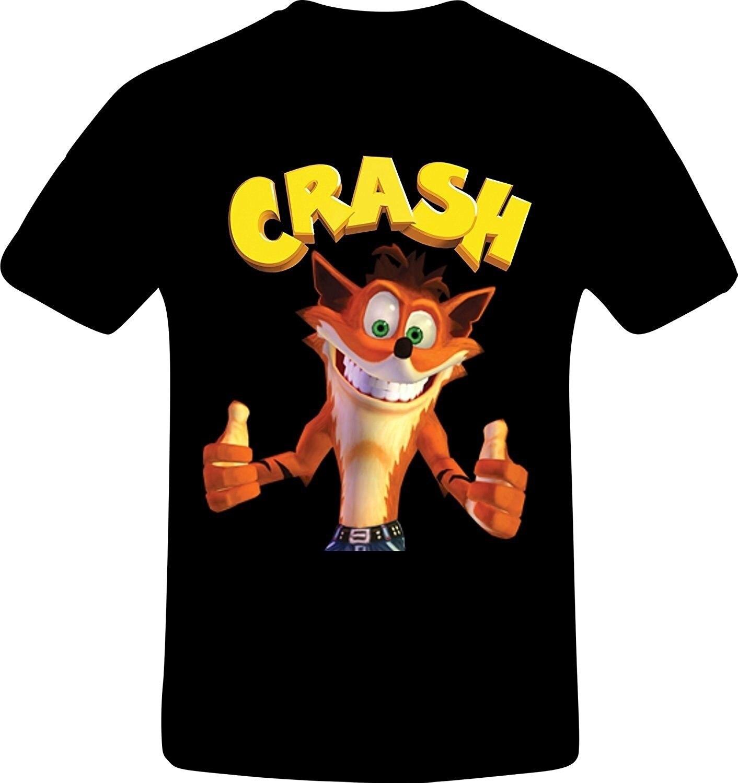 Мужская футболка, хит, летняя, забавная, крутая, модная, с принтом, хипстер, топы, футболка Crash Bandicoot, лучшее качество, Costum, футболка, wo men