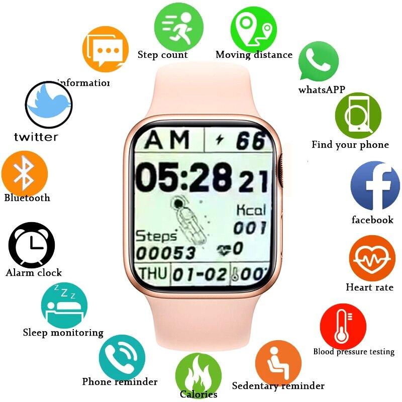 GEJIAN 2021 جديد ساعة ذكية النساء بلوتوث دعوة مراقب معدل ضربات القلب مقاوم للماء الرياضة Smartwatch الرجال Fitnes ساعة ل IOS أندرويد