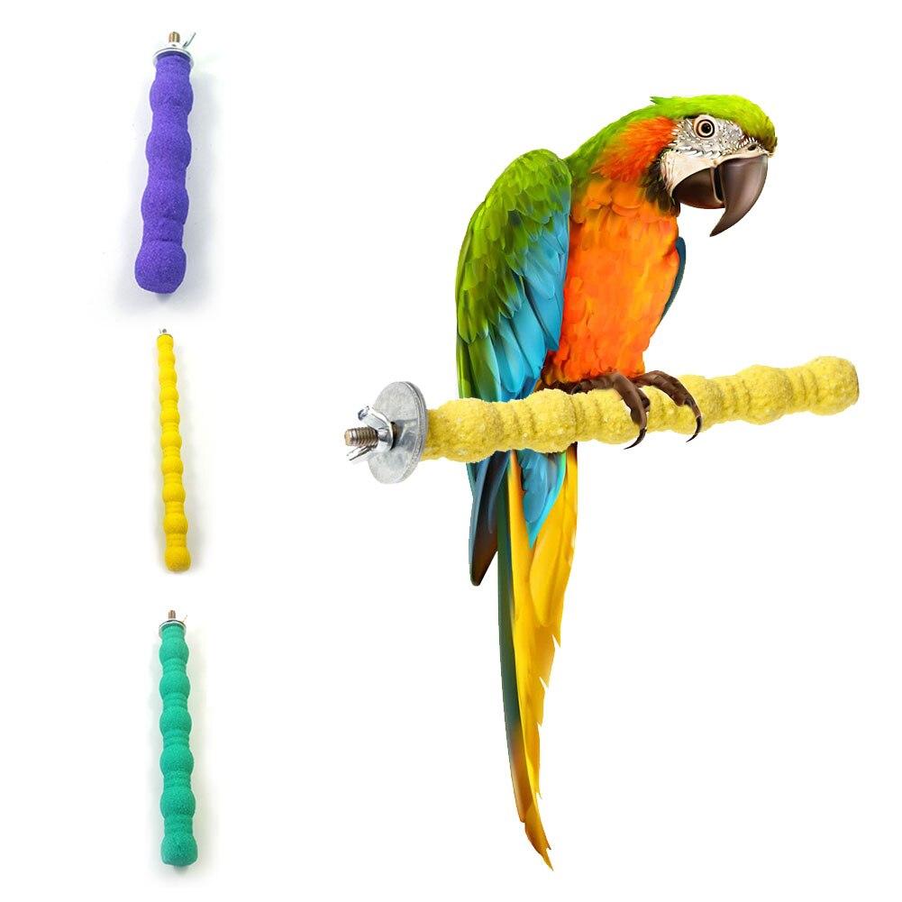 Juguetes Para loros, jaula, pata, percha, plataforma de soporte, pata, mordedura, juguete, pájaros, accesorios, hermosos colores, agregar Color a la jaula de pájaros