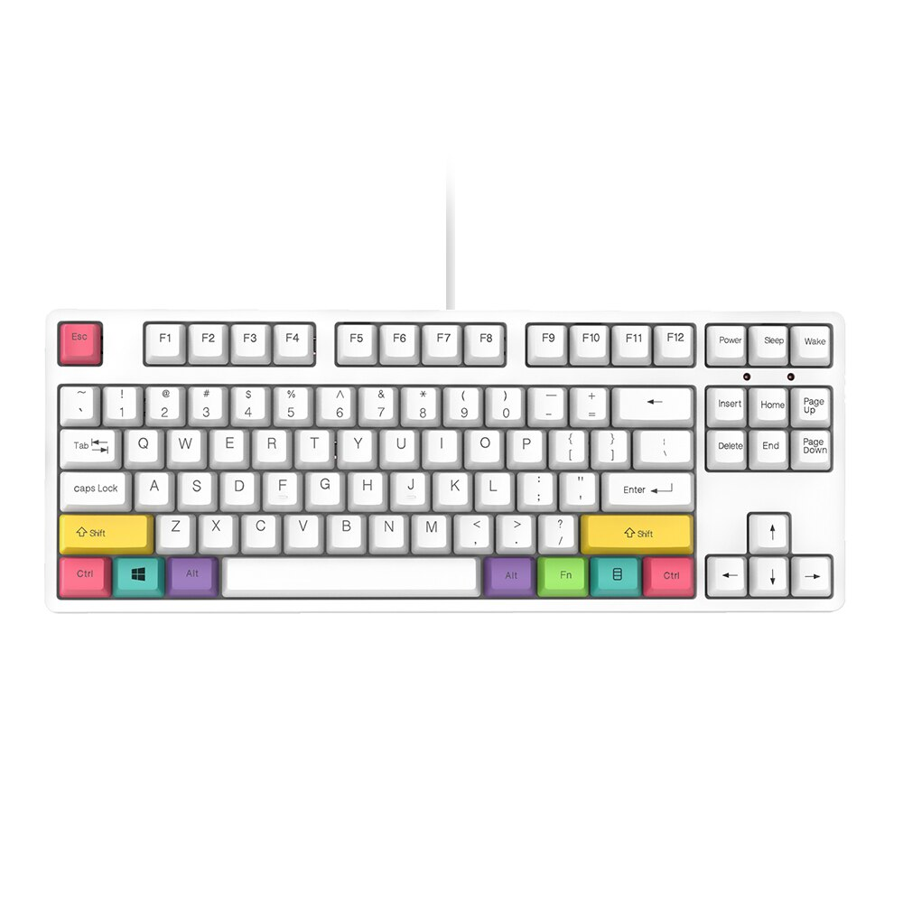 Mechanical Keyboard Wired Gaming Keyboard RGB Mix Backlit 87 key for Game Laptop  Black/Blue/Red/Brown Switches