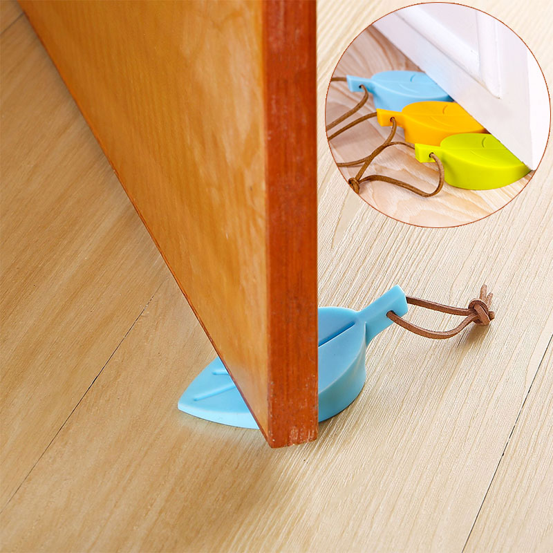 Leaves Shape Door Stop Baby Safety Silicone Door Stopper Door Stop Guards Safe Protector Anti-pinch Hand Child Safety Security baby safety protection products silicone safety door card children s anti pinch door stop baby door seam door stop