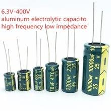 20PCS 35V 1500uF aluminum electrolytic capacitor 4V 10V 16V 25V 35V 100UF 220UF 330UF 470UF 680UF 1000UF 47UF 1500UF 10UF 20%