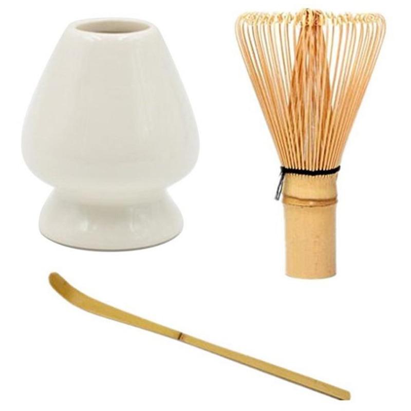 Best Japanese Bamboo Matcha Whisk Brush Professional Green Tea Powder Whisk Chasen Tea Ceremony Bamboo Brush Tool Grinder(White