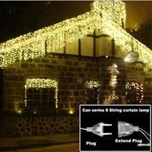 4.6M LED lumière de noël extérieur intérieur guirlande chaîne fée lumière rue glaçon rideau goutte 0.4-0.6m jardin maison déco 110-220V