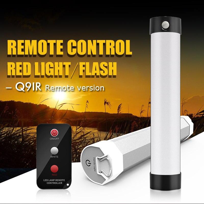 مصباح تخييم Led مغناطيسي مع جهاز تحكم عن بعد ، مصباح طوارئ محمول ، قابل لإعادة الشحن ، للتخييم