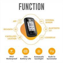 Ordinateur de vélo XOSS G + sans fil Bluetooth ANT + GPS ordinateur de cyclisme pour la navigation de mesure de vitesse et le partage de données écran LCD