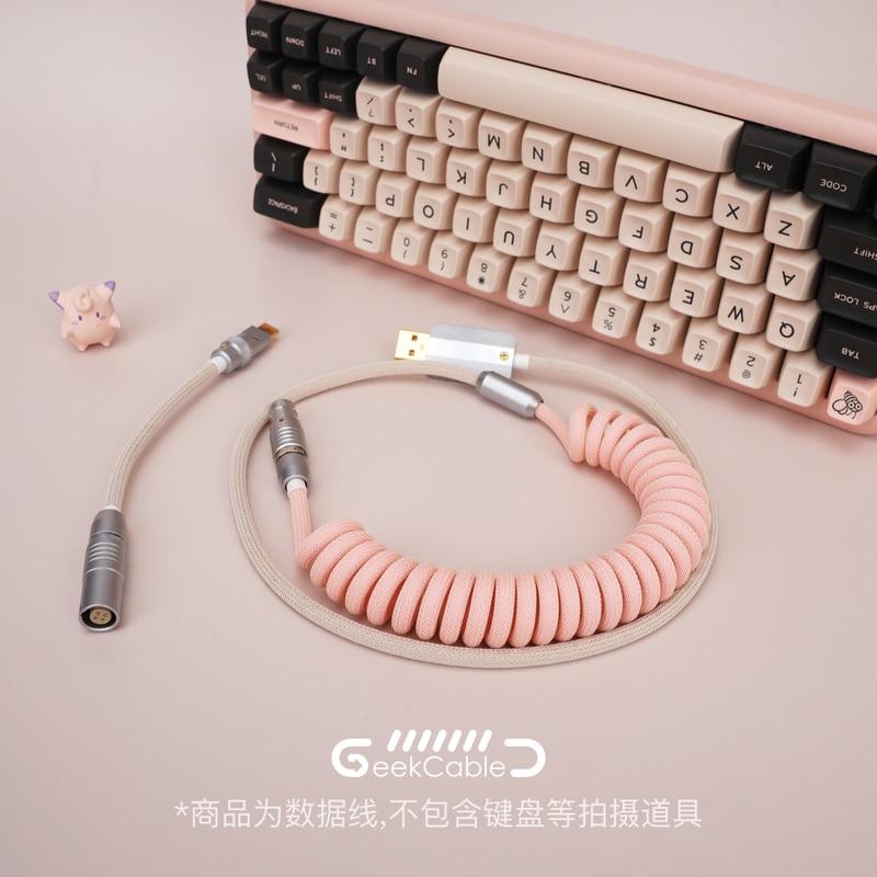 GeekCable-كابل بيانات لوحة المفاتيح الميكانيكية ، مخصص يدويًا ، لموضوع GMK SP ، Keycap Line MelGeek Mojo60 Christian Colorway