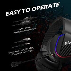 Image 5 - Игровая гарнитура EKSA E400, проводные 3D наушники с RGB подсветкой и микрофоном для ПК, PS4, Xbox One, Nintendo, телефона