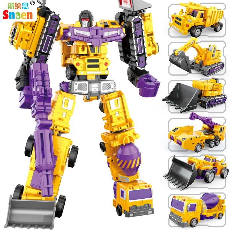 Transformation Robot Action Figures Diecast Engineering Deformed Toy Cars Blocks Assemble Educational Toys for Childrens Boys assemble ph35005 1 35 russia 279 engineering nuclear tank blocks kits