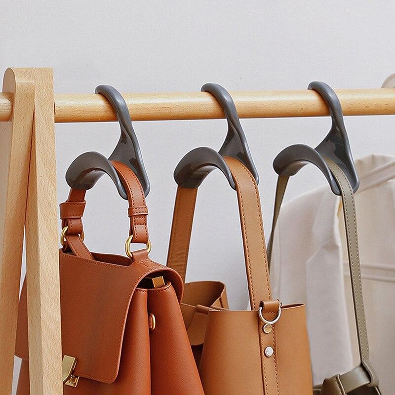 1 قطعة أكياس خزانة هوك متعددة الأغراض خطاف تعليق المعاطف رف مربوط قبعة رف الأحذية حزام البلاستيك حقيبة للحمل وشاح الجرف