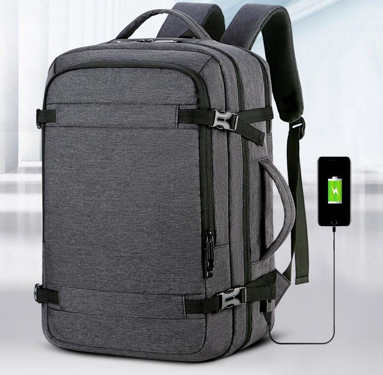 2020 bolsa impermeable de tela Oxford para hombres bolsa de ordenador de negocios multifunción de gran capacidad de viaje interfaz de carga Usb