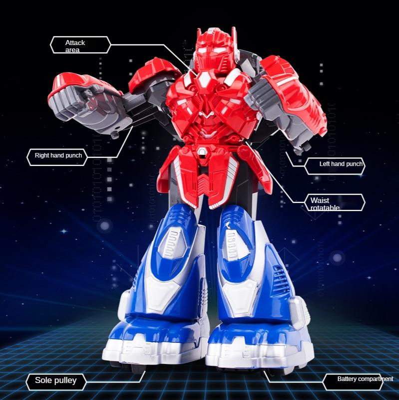 somatosensory control battle robot music light large double battle boxing toy RC robot toy parent-child interactive game gift enlarge