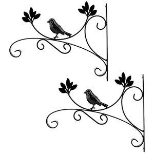 2PCS Hanging Basket Plant Hook Metal Outdoor Garden Heavy Duty Wall Hook for Planter Flower Hanger Bird Feeder