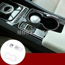 Pour Jaguar XE X760 Console intérieure frein à main et eau support de verre revêtement dhabillage 2015-2017 2 pièces voiture accessoires intérieur voiture décor