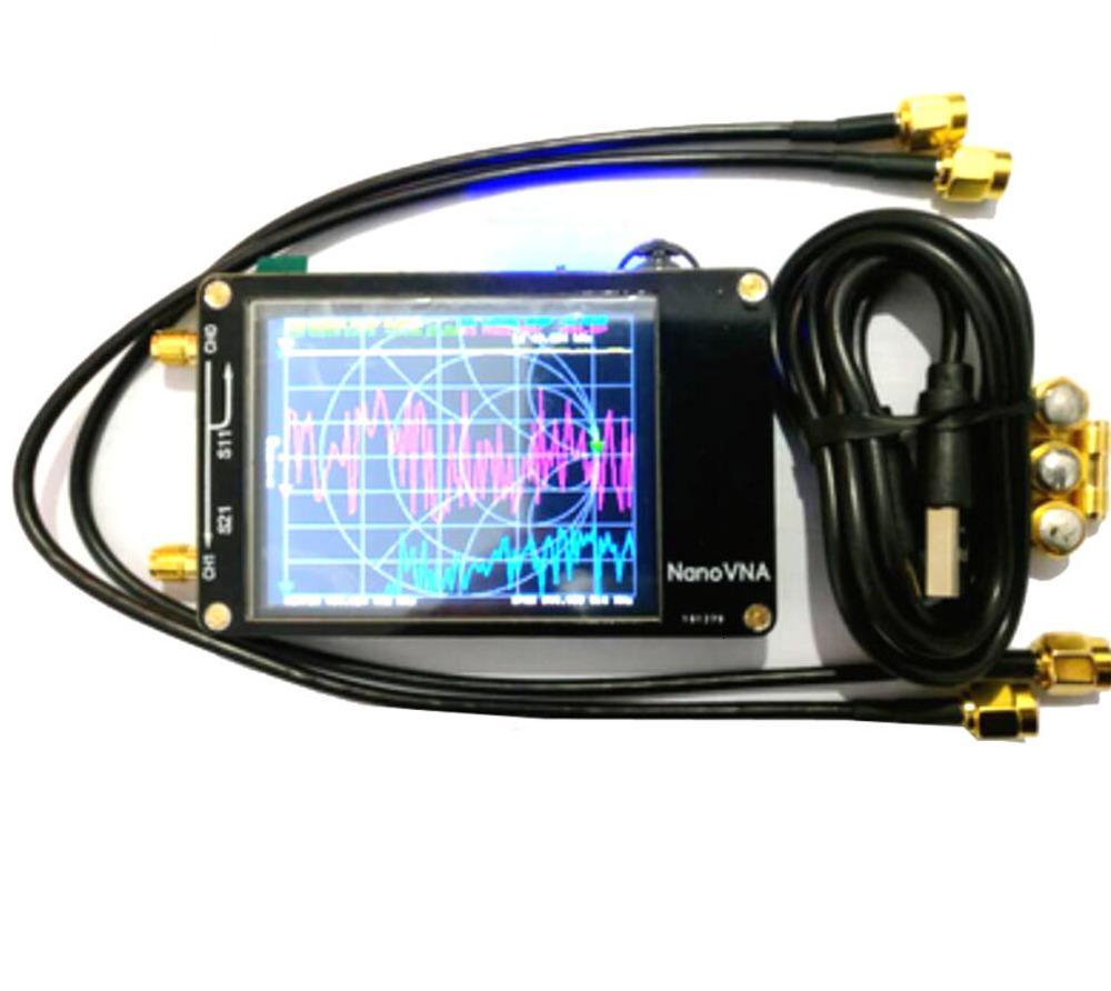 NanoVNA 2,8 дюймов сенсорный экран ЖК-дисплей кв УКВ УФ вектор сетевой анализатор 50 кГц-300 МГц анализатор антенны с Батарея I4-001