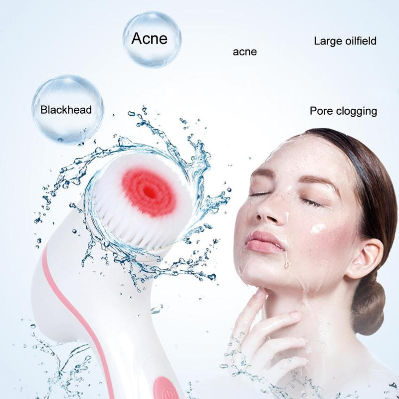 Cepillo de limpieza Facial, sistema de Spa galvánico Facial para rejuvenecimiento de la piel, Limpieza Profunda, eliminación de puntos negros