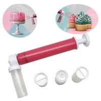 1set cake coloring duster manual airbrush durable creative originality portable cake manual airbrush home kitchen baking tools