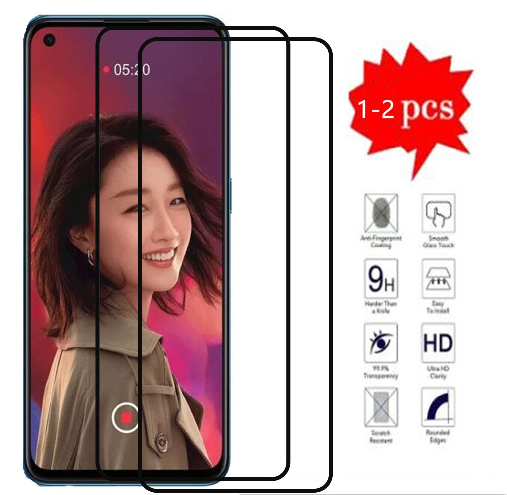 Full Cover Tempered Glass On For For Oppo Reno5 5G Screen Protector Glass On For For Oppo Reno5 4G P
