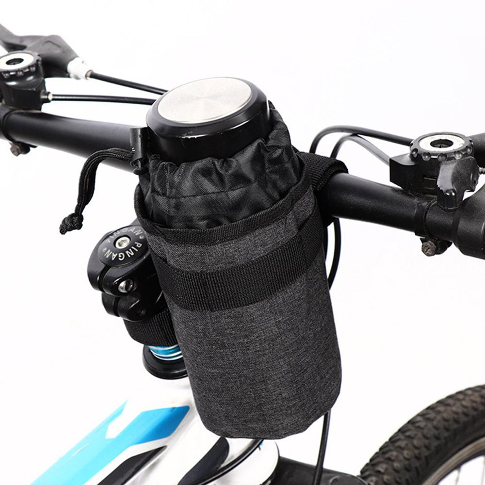 750ml Bike Handlebar Stem Kettle Bag Bicycle Insulated Water Bottle Storge Pouch Three-point Magic Sticker Fixed Stable