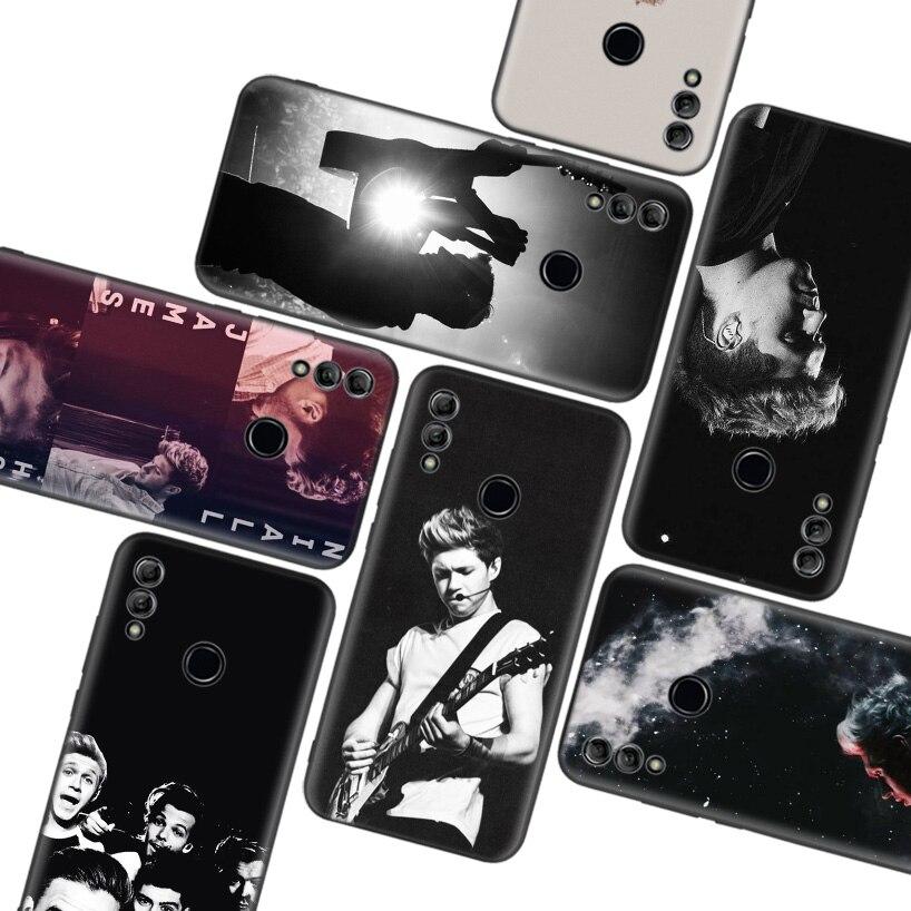 Niall Horan estilo una dirección 1D negro caso de Huawei Y9 Y5 Y6 Y7 2019 Honor 10 9 Lite 9X 8X 8S 8A 7X 7A 10i 20i V20 teléfono Co