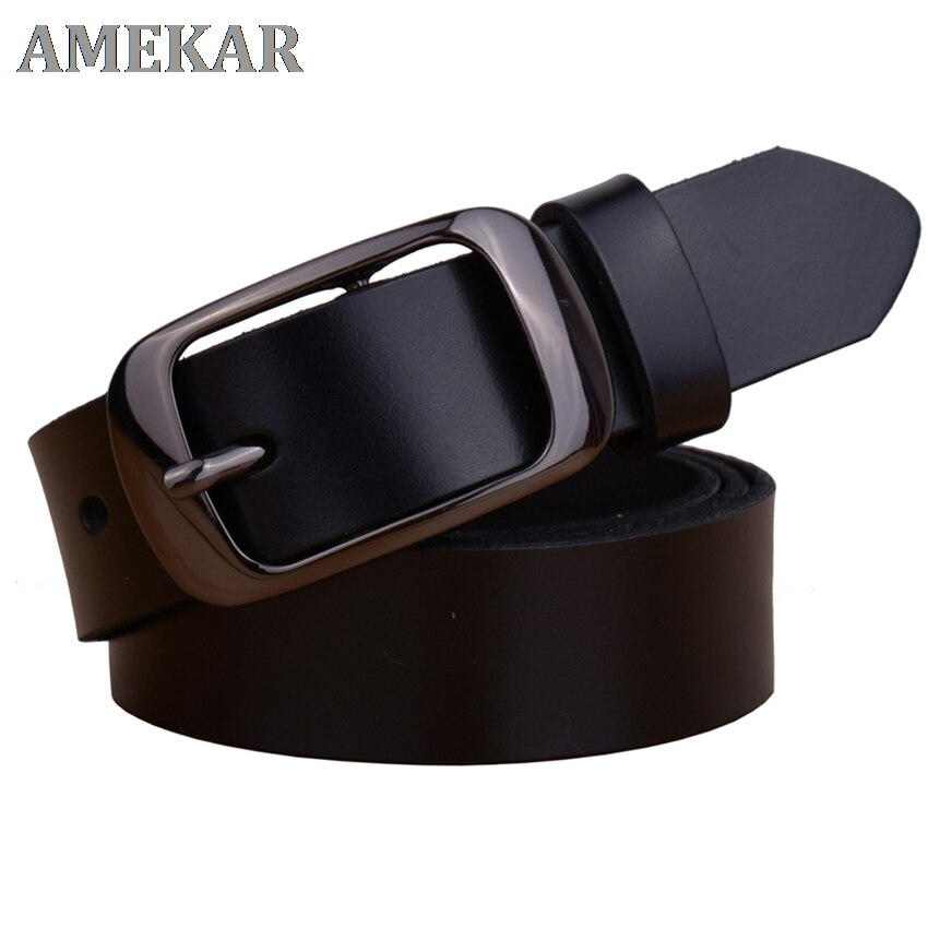 Factory Direct Quality Assurance Best Price New Fashion Cowskin Leather Women Belt Brief  Strap Designer Casual