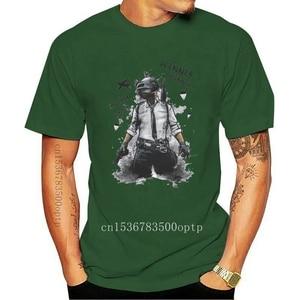 New T shirt Men Game Playerunknown's Battlegrounds PUBG Winner Winner Chicken Dinner T Shirts White Cotton O-Neck Short Sleeve T