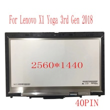 """무료 배송 14 """"LED LCD 화면 터치 디지타이저 어셈블리 LP140QH2 SPB1 QHD 레노버 X1 요가 2018 버전"""